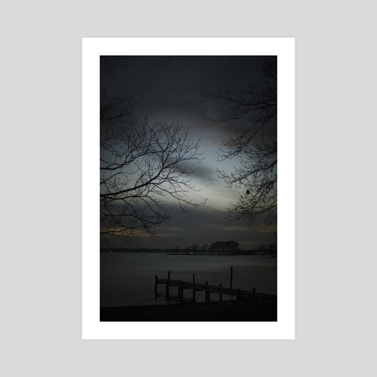 Miles River, March, Dusk by Louis Rouse