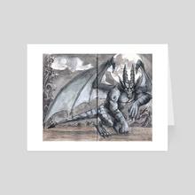 Gargoyle - Art Card by Phil Lang