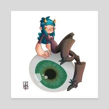 eye see you - Canvas by Kiska Zilla
