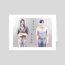 Print #9: Blue - Art Card by MS.NA