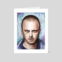 Jesse Pinkman - Breaking Bad - Art Card by Olga Shvartsur