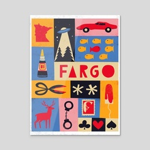 FX Fargo - Acrylic by Maria Ku
