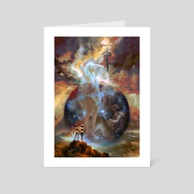 Mother Earth Father Sky - Art Card by Shayu Dan
