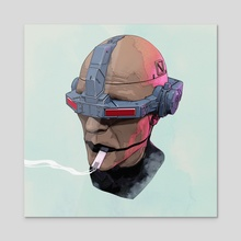 Tech_Face - Acrylic by Mack