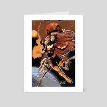 Dark Phoenix - Art Card by Shawn Norton