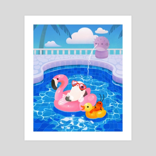 Cory cats in the swimming pool 2 by pikaole