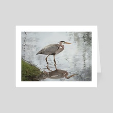 Great Blue Heron - Art Card by Ray Miller
