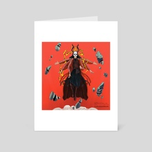 Caution - Art Card by RABIA EL MOUDEN