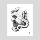 Poseidon - INK Edition 100 Limited Edition Prints - Art Print by Kacper  Gilka