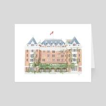 Empress Hotel, Victoria - Art Card by Maryna Zarud