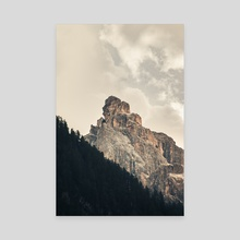 Rocky Mountain Top - Canvas by Luigi Veggetti