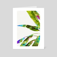 Banana Leaves Holi - Art Card by 83 Oranges