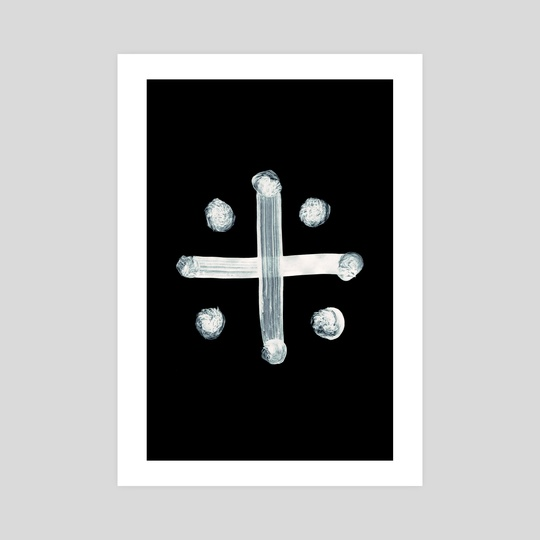 Alchemical Symbols - Distilled Vinegar Two Inverted by Wetdryvac WDV