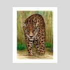 Jaguar in bamboo forest - Art Print by Ronald Zeman