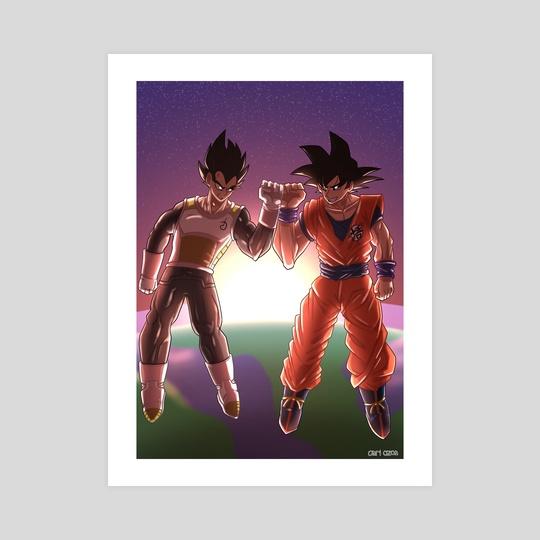 Goku and Vegeta by omri ozan