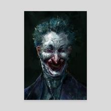 Joker - Canvas by Chenthooran Nambiarooran