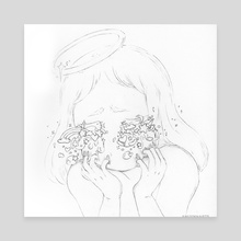 i see you in everything - Canvas by Amanda Huynh