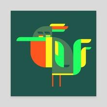 Bird no2 - Canvas by Samuel Boucher