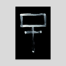 Alchemical Symbols - Potassium One Inverted - Canvas by Wetdryvac WDV