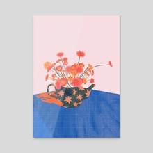 Flower Tea - Acrylic by Florencia Fuertes