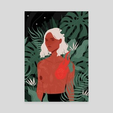 The Amazon - Canvas by Clémence Gouy