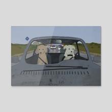 DOG - Acrylic by mememe