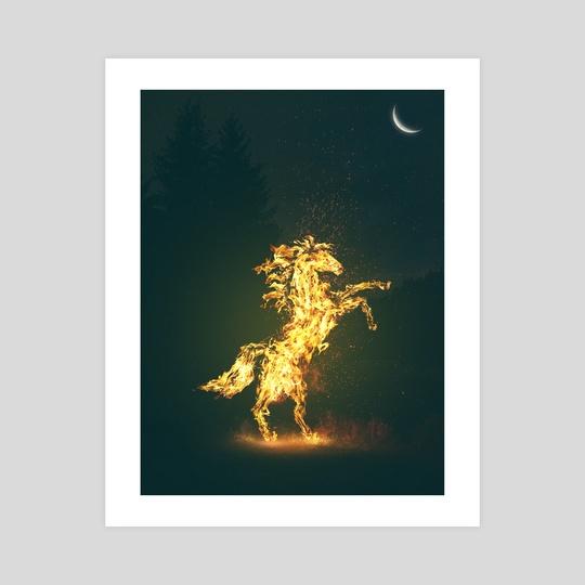Flaming Stallion by Gerro