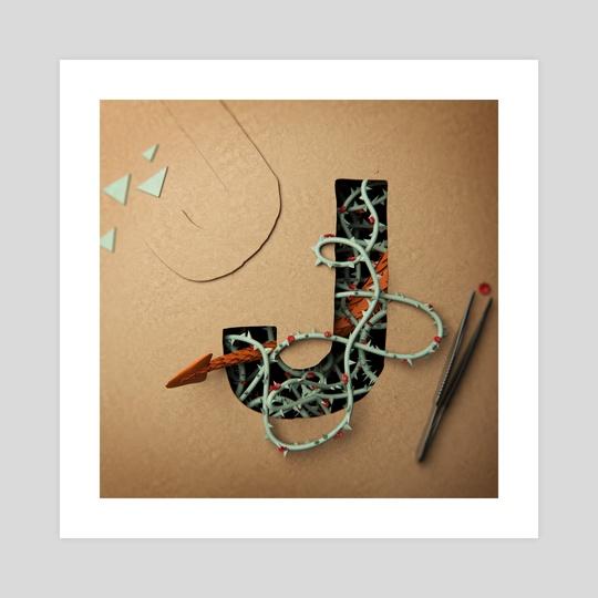 Cardboard Fairytale Letter J by Hein van Dongen