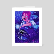 Anglerfish Rin - Art Card by six hours