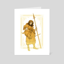 Ayaan with longspear - Art Card by Even Mehl Amundsen