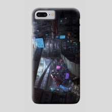 Cyberpunk City - Phone Case by Eric Paints