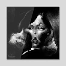 Lauren Baccal - Acrylic by Alexander Novoseltsev