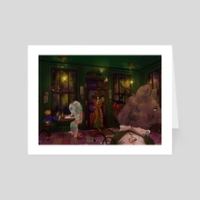 Mysterious Cafe (Without Words) - Art Card by Kayumi Le