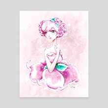 Lady Rose Shoujo Anime Art - Canvas by Bridget Garofalo