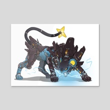 Mecha Luxray - Acrylic by Guillem Ferrer