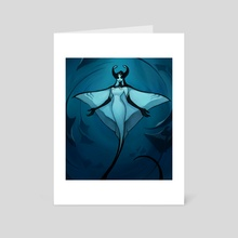 Manta Ray - Art Card by Matilda Fiship