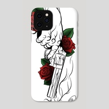 Roses and a gun - Phone Case by Matthew Hally