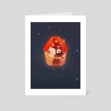 Cozy - Art Card by Cali Flair