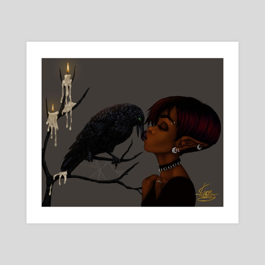 Kissing Crow by Shakira Rivers