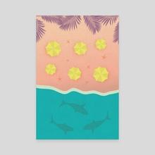 The Shark Bay - Canvas by Illusorium