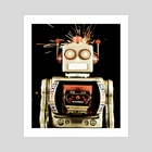 retro robot toy  - Art Print by Charles Taylor