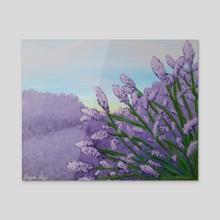 Serene - Acrylic by Ildiko Burjan