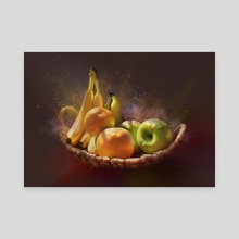 Summer fruits - Canvas by Lubove Nazarova
