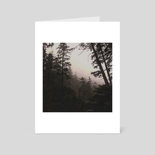 Oregon Coastal Forest - Art Card by Leah Flores