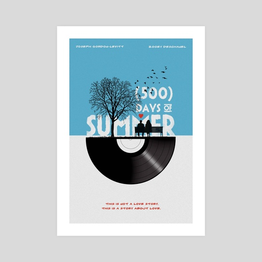 Alternative 500 days of summer movie print by Fer Ojea