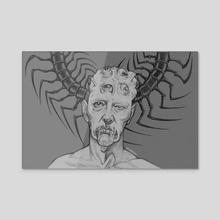 centipede - Acrylic by Artem Polyakov