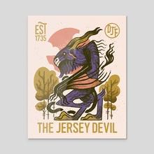 Jersey Devil - Acrylic by Devin Forst