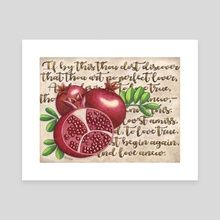 Pomegranate Love Anew - Canvas by Mishka Jaeger