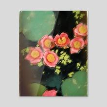 Lotus Flowers - Acrylic by Elena Fernández Rico