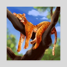 big lazy cat - Canvas by Ekaterina Chumakova